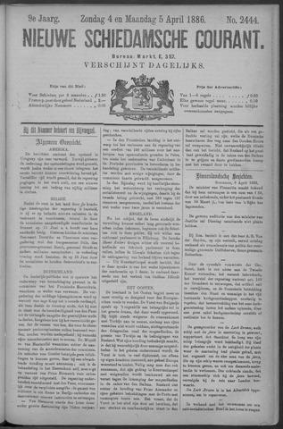 Nieuwe Schiedamsche Courant 1886-04-05