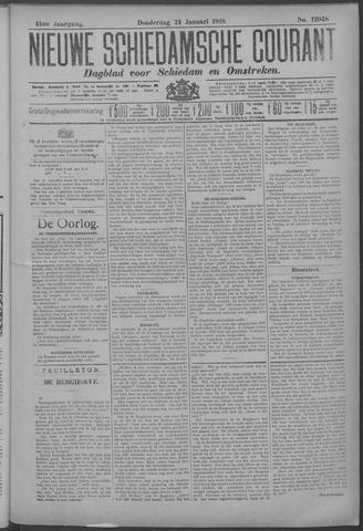 Nieuwe Schiedamsche Courant 1918-01-24