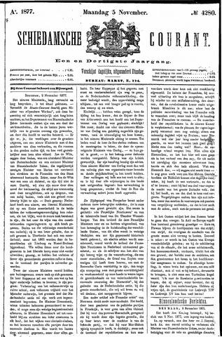 Schiedamsche Courant 1877-11-05