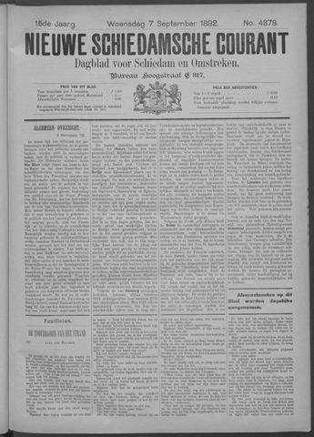 Nieuwe Schiedamsche Courant 1892-09-07