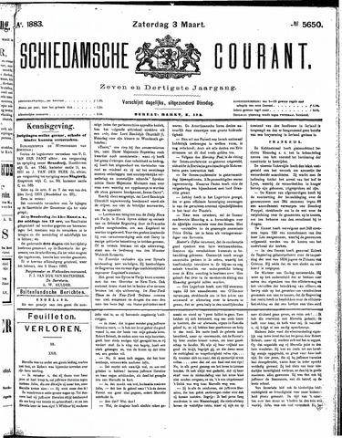 Schiedamsche Courant 1883-03-03
