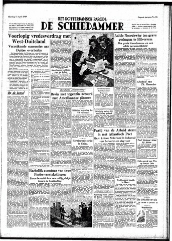 Rotterdamsch Parool / De Schiedammer 1949-04-11