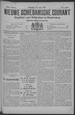 Nieuwe Schiedamsche Courant 1897-07-13