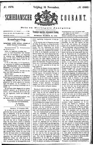 Schiedamsche Courant 1879-11-14
