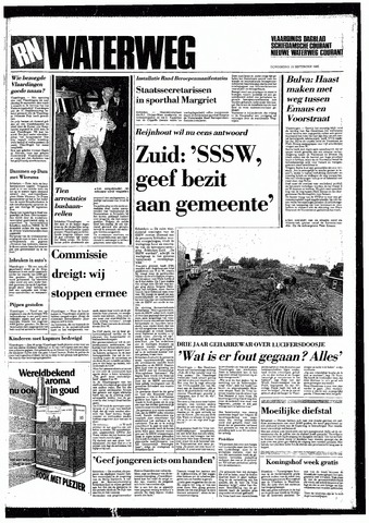 Rotterdamsch Nieuwsblad / Schiedamsche Courant / Rotterdams Dagblad / Waterweg / Algemeen Dagblad 1985-09-19