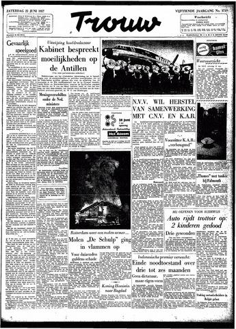 Trouw / De Rotterdammer 1957-06-22