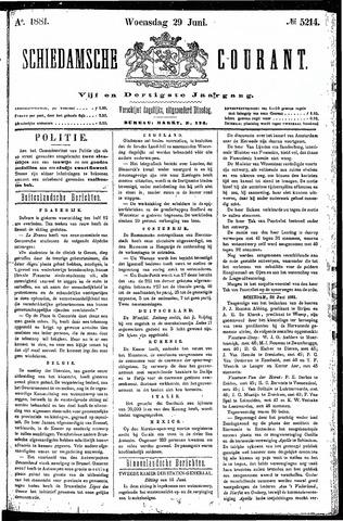 Schiedamsche Courant 1881-06-29