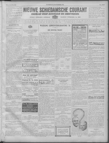 Nieuwe Schiedamsche Courant 1932-11-05