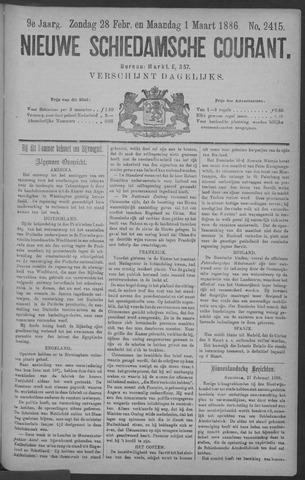 Nieuwe Schiedamsche Courant 1886-03-01