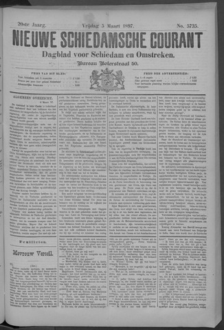 Nieuwe Schiedamsche Courant 1897-03-05