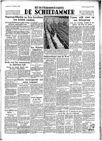 Rotterdamsch Parool / De Schiedammer 1948-09-16