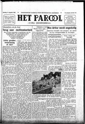 Rotterdamsch Parool / De Schiedammer 1945-08-18