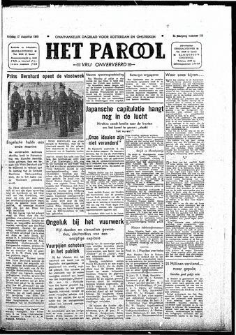 Rotterdamsch Parool / De Schiedammer 1945-08-17