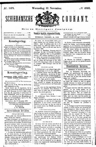 Schiedamsche Courant 1879-11-19