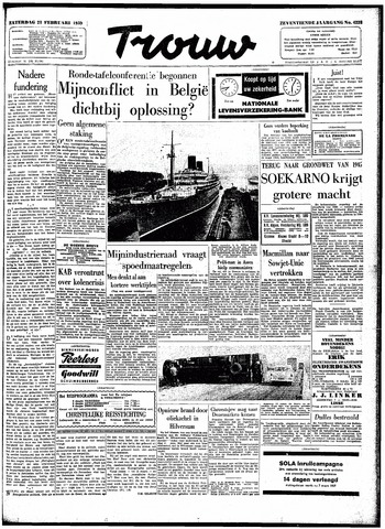Trouw / De Rotterdammer 1959-02-21