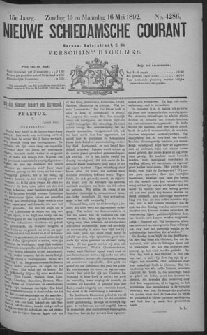 Nieuwe Schiedamsche Courant 1892-05-16