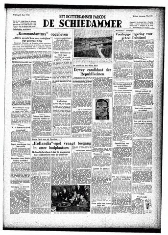 Rotterdamsch Parool / De Schiedammer 1948-06-25