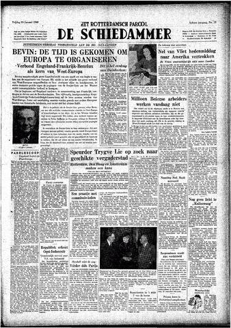 Rotterdamsch Parool / De Schiedammer 1948-01-23