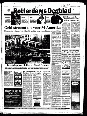 Rotterdamsch Nieuwsblad / Schiedamsche Courant / Rotterdams Dagblad / Waterweg / Algemeen Dagblad 1998-11-11