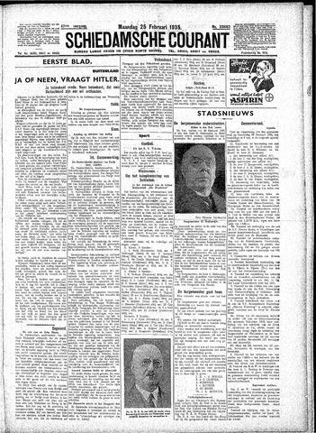 Schiedamsche Courant 1935-02-25
