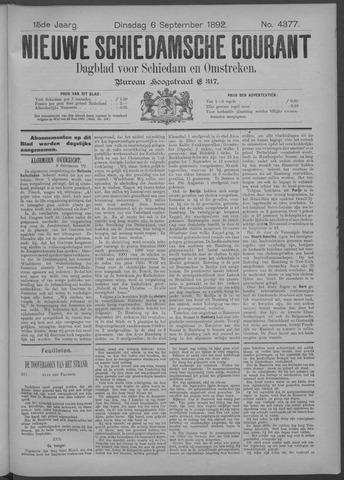 Nieuwe Schiedamsche Courant 1892-09-06