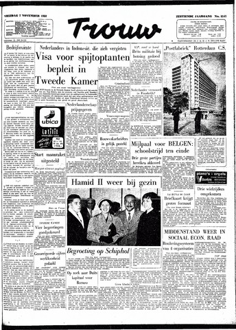Trouw / De Rotterdammer 1958-11-07