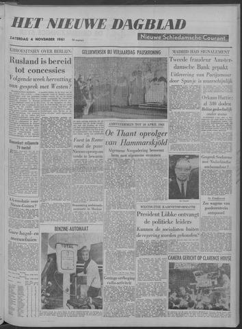 Nieuwe Schiedamsche Courant 1961-11-04