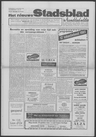 Het Nieuwe Stadsblad 1961-08-02