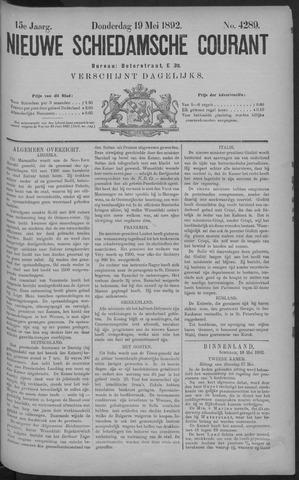 Nieuwe Schiedamsche Courant 1892-05-19