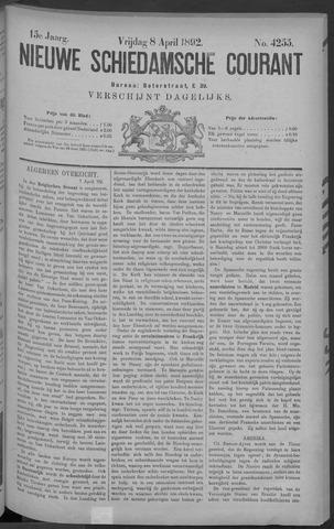Nieuwe Schiedamsche Courant 1892-04-08