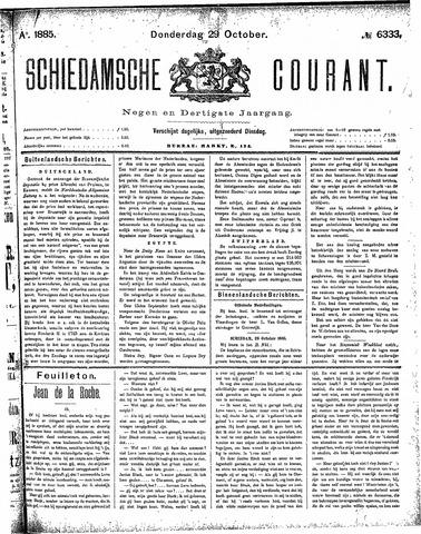 Schiedamsche Courant 1885-10-29