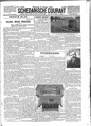 Schiedamsche Courant 1933-12-27