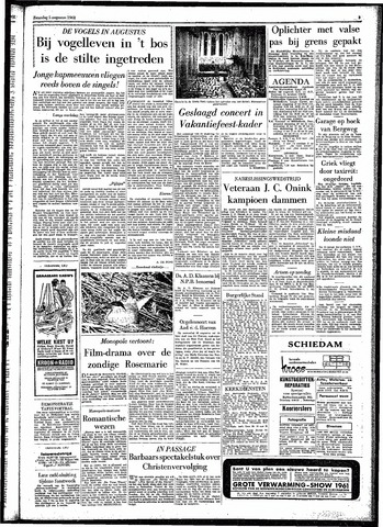 Rotterdamsch Parool / De Schiedammer 1961-08-05