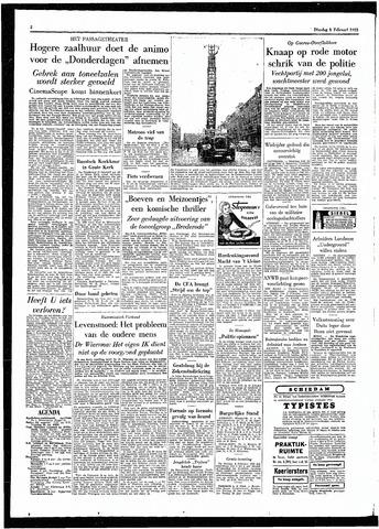 Rotterdamsch Parool / De Schiedammer 1955-02-01