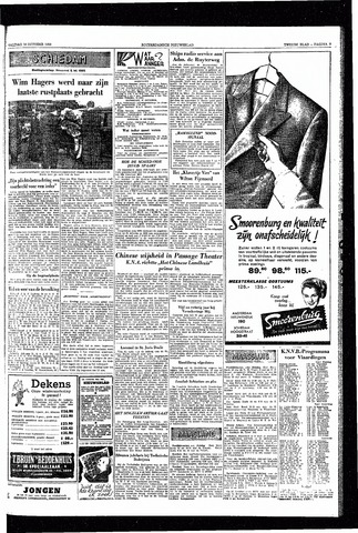 Rotterdamsch Nieuwsblad / Schiedamsche Courant / Rotterdams Dagblad / Waterweg / Algemeen Dagblad 1953-10-16
