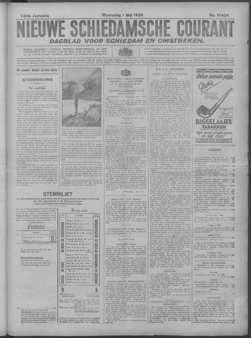 Nieuwe Schiedamsche Courant 1929-05-01