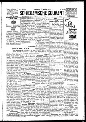 Schiedamsche Courant 1935-01-24