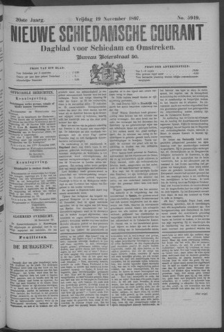 Nieuwe Schiedamsche Courant 1897-11-19