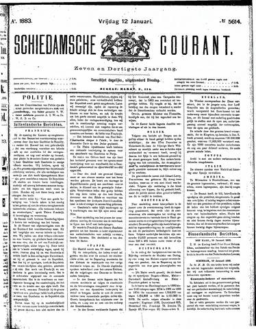 Schiedamsche Courant 1883-01-12