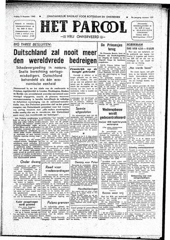 Rotterdamsch Parool / De Schiedammer 1945-08-03