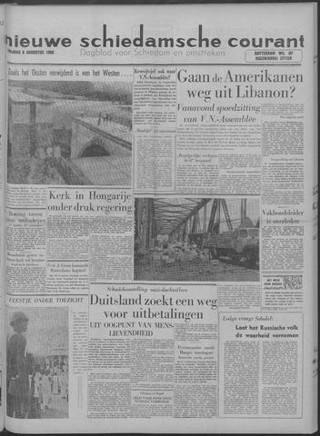 Nieuwe Schiedamsche Courant 1958-08-08