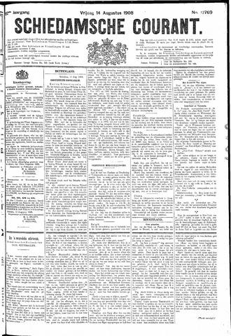 Schiedamsche Courant 1908-08-14