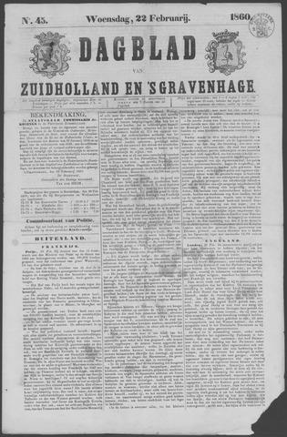 Dagblad van Zuid-Holland 1860-02-22