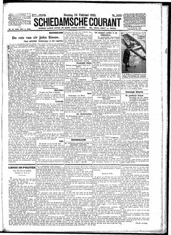 Schiedamsche Courant 1935-02-26