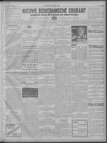 Nieuwe Schiedamsche Courant 1932-04-09