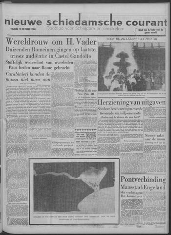 Nieuwe Schiedamsche Courant 1958-10-10