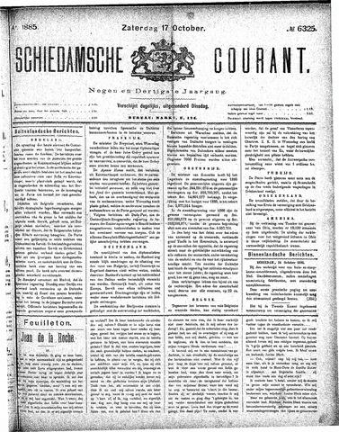 Schiedamsche Courant 1885-10-17