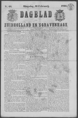 Dagblad van Zuid-Holland 1860-02-21