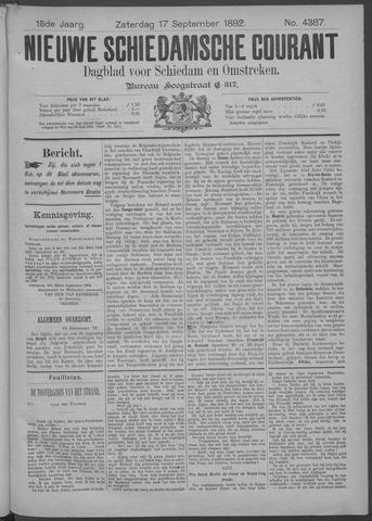 Nieuwe Schiedamsche Courant 1892-09-17