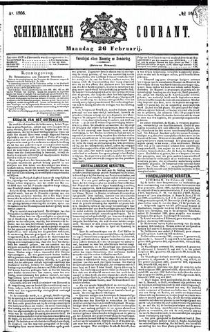 Schiedamsche Courant 1866-02-26